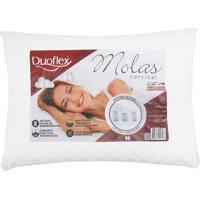 Travesseiro Duoflex Molas Anatômico Branco