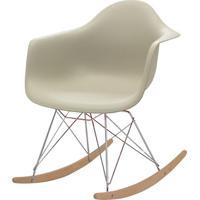 Cadeira Eames Eiffel Com Braco Polipropileno Nude Base Balanco - 53045 - Sun House