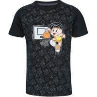 Camiseta Oxer Cascão - Infantil - Preto