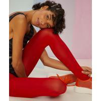Amaro Feminino Meia Calça Colors, Vermelho