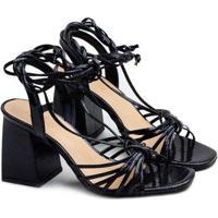 Sandálias Saltare Babete Feminina - Feminino-Preto