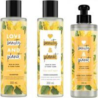 Kit Shampoo Condicionador E Creme De Pentear Love Beauty And Planet Hope & Repair - Tricae