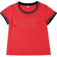 Blusa Vermelho Yes Com Strass