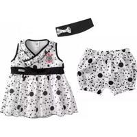 Vestido Infantil Corinthians Com Shorts E Tiara Oficial