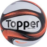 355d7cbe69 Bola De Futsal Topper Dominator Td2 - Branco Preto