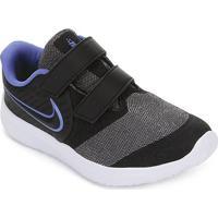 Tênis Infantil Nike Star Runner 2 Velcro - Feminino-Preto+Verde