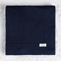 Manta Beb㪠Tricot Liso Azul Marinho 80Cm Grã£O De Gente Azul - Azul - Dafiti