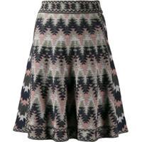 M Missoni Zig Zag Pattern Skirt - Rosa