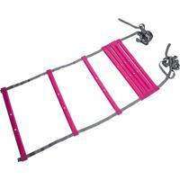 Escada De Agilidade- Preta & Pink- 4X47Cm- Acte Acte