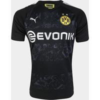 Camisa Borussia Dortmund Away 19/20 S/Nº Torcedor Puma Masculina - Masculino