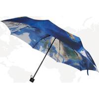 Guarda-Chuva Mapa Mundi - Estampa Exclusiva
