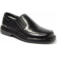 Sapato Masculino Couro Terapia Confort - Masculino-Preto