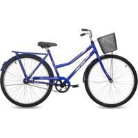 Bicicleta Aro 26 Q19,5 Freio Ff Com Cesta Valente Mormaii - Feminino
