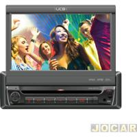 "Dvd Player - Ucb Connect - Retrátil/Usb/Sb/Touch/Tela 7"" - Cada (Unidade) - Dr170"