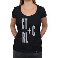 Ctrl+C - Camiseta Clássica Feminina