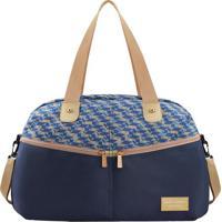 Bolsa De Viagem - Azul Marinho & Bege - 29X42X20Cmjacki Design