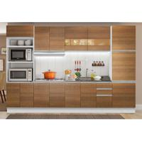 Cozinha Compacta Glamy 13 Pt 3 Gv Branca E Rustic