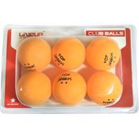 Bola De Tênis Mesa Ping Pong Liveup 2 Estrelas 6 Unidades