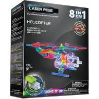 Blocos De Montar Laser Pegs Helicóptero 8 Em 1 Azul