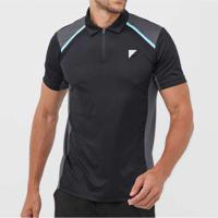 Camisa Polo Fila Fusion Plaid Masculina Preto