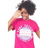 Blusa Estampada Surf Feminina - Feminino-Pink