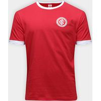 Camiseta Retrô Inter Masculina - Masculino-Vermelho