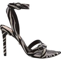 Sandália Stiletto Zebra Print   Schutz