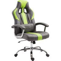 Cadeira Gamer Jaguar Cinza E Verde