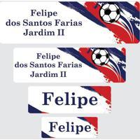 Etiqueta Escolar Futebol
