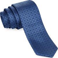 Gravata Slim Azul Circles - Sl108