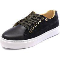 Tênis Sapatênis Shoes Grand Em Tecido E Couro Preto