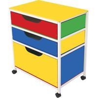 Gaveteiro Multiuso - Amarelo & Azul Escuro- 76X67,5Xcarlu