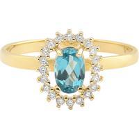 32cba1d89818b Vivara  Anel Ouro Amarelo Apatita E Diamantes