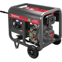 Gerador De Energia Branco Bd6500 A Diesel 5.5Kva 10Cv Partida Manual
