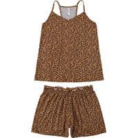 Pijama Marrom Nadador Animal