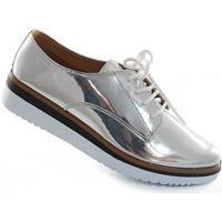 Oxford Sapato Show Metalizado - Feminino-Prata