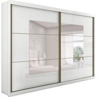 Guarda-Roupa Casal Toronto 2Pt 6Gv Com Espelho Branco