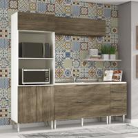 Cozinha Modulada Compacta 6 Portas E 4 Gavetas Vanguarda Rústico - Urbe Móveis