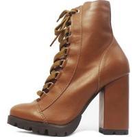 Bota Damannu Shoes Rocky Feminina - Feminino-Marrom