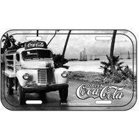 Placa De Metal Coca Cola Caminhão Visão Frontal Vintage