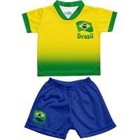 Netshoes  Conjunto Infantil Sublimado Torcida Baby Brasil Masculino -  Masculino 383ee45705774