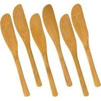 Espátula De Bambu Para Patê Welf 6 Peças 14Cm - 11857