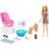 Boneca Barbie Salão De Manicure Com Pets Playset Mattel