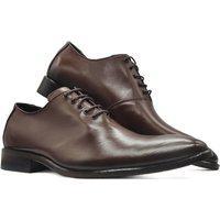Sapato Social Oxford Masculino Bico Arredondado Sola Couro Mod 2001 Marrom