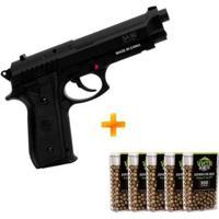 Pistola De Pressão A Gás Co2 Sa P92 Swiss Arms 4.5Mm + 5 Caixinhas De Esferas De Aço - Unissex
