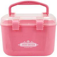 Caixa Organizadora Pequena- Incolor & Rosa- 16X14X12Jacki Design