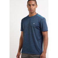 Camiseta Masculina Esportiva Ace Com Recorte Manga Curta Gola Careca Azul Royal