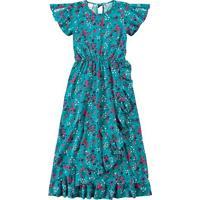 Vestido Longo Floral - Azul & Rosa- Malweemalwee