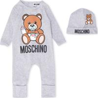 Moschino Kids Conjunto Infantil Com Logo - Cinza