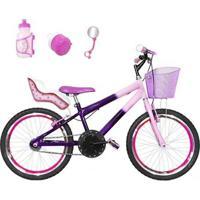 Bicicleta Infantil Aro 20 + Kit Roda Aero+ Cadeirinha - Feminino